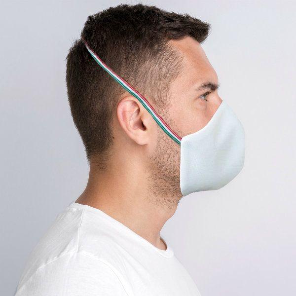 Mascherine per Coronavirus personalizzabili. A conchiglia, in tessuto