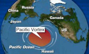 cartina isola di plastica nel pacifico